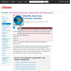 MySQL Exercises, Practice, Solution