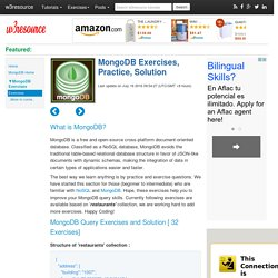 MongoDB Exercises, Practice, Solution