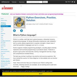 Python Exercises, Practice, Solution