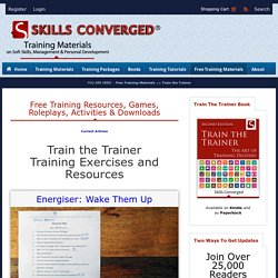 Train the Trainer Training Exercises & Resources