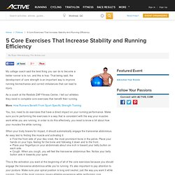 5 Core Exercises That Increase Stability and Running Efficiency