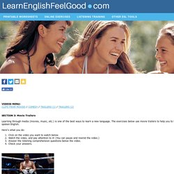 Video-based exercises for ESL Students