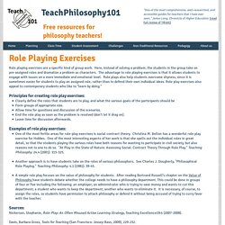 Role Playing Exercises