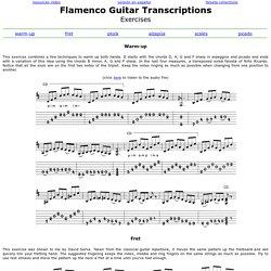 Guitar Exercises - Flamenco Guitar Transcriptions