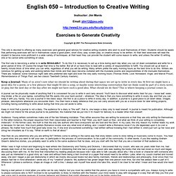 Exercises in Writing for Beginning Writers