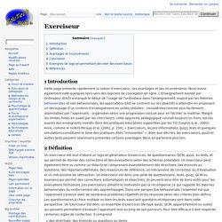 Exerciseur : définition