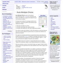 Auto-Multiple-Choice - Création de cours et exerciseurs - Logiciels Libres - Framasoft