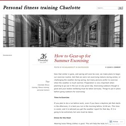 Personal fitness training Charlotte