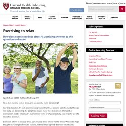 2. Exercise to reduce stress
