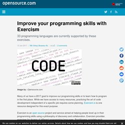 Try Exercism to improve your programming skills
