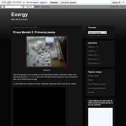 Exergy: Prusa Mendel 2: Primeros pasos