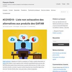#COVID19 – Liste non exhaustive des alternatives aux produits des GAFAM