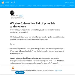 Wit.ai — Exhaustive list of possible grain values – Chatbot's Life
