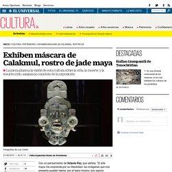 Exhiben máscara de Calakmul, rostro de jade maya