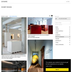 Exhibit Design · A collection curated by Divisare
