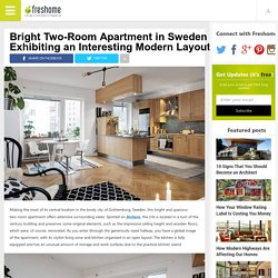 Bright Two-Room Modern Apartment In Sweden
