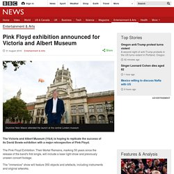 Pink Floyd exhibition announced for Victoria and Albert Museum