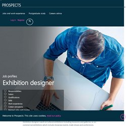 Exhibition designer job profile
