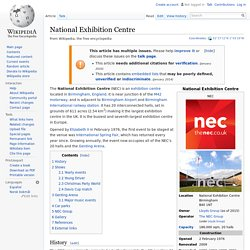 National Exhibition Centre