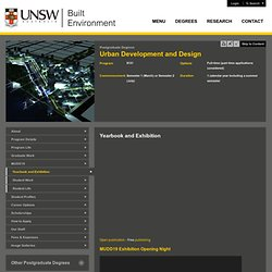 Yearbook and Exhibition | UNSW Built Environment