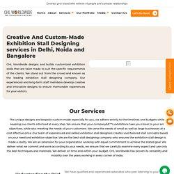 Exhibition Stall Design Company, Fabrication Designing Agency Delhi, Noida, Bangalore India - CHL Worldwide