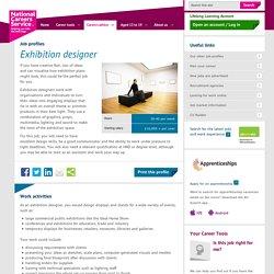 Exhibition designer Job Information
