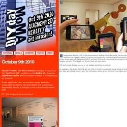 Augmented Reality art exhibition MoMA NYC (guerrilla intervention)