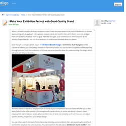 Make Your Exhibition Perfect with Good-Quality Stand