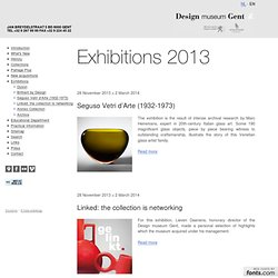 Exhibition programme 2013 - Design museum Gent