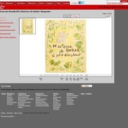 Museum Online Exhibitions - Jean de Brunhoff's Histoire de Babar Maquette, front cover