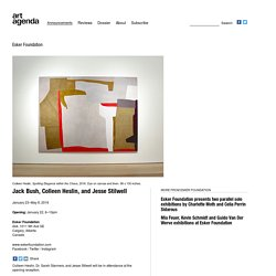 Jack Bush, Colleen Heslin, and Jesse Stilwell exhibitions at Esker Foundation