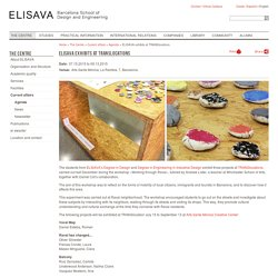 ELISAVA exhibits at TRANSlocations