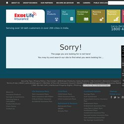 Exide Life Insurance - Page not found