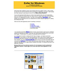 Exifer for Windows