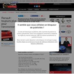 RENAULT PLUS EXIGEANT AVEC NOUVELLE SIGNATURE ECO2