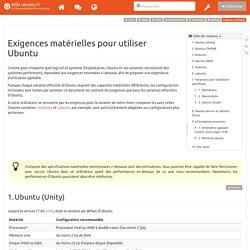 exigences_minimales [Wiki ubuntu-fr]