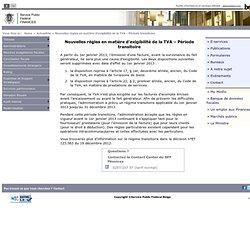 Nouvelles règles en matière d'exigibilité de la TVA – Période transitoire