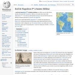 Exil de Napoléon Ier à Sainte-Hélène
