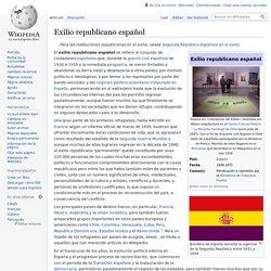 Exilio republicano español