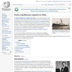 Exilio republicano español en Chile