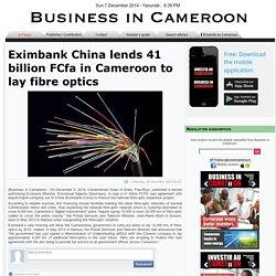 Eximbank China lends 41 billion FCfa in Cameroon to lay fibre optics