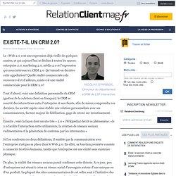 EXISTE-T-IL UN CRM 2.0? - Avis d'expert - COMMUNITY MANAGEMENT