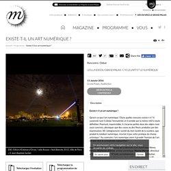 RMN - Grand Palais Existe-t-il un art numérique ?