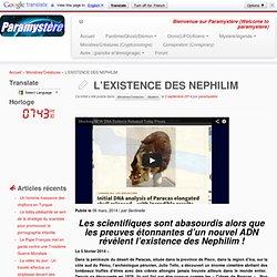 L'EXISTENCE DES NEPHILIM