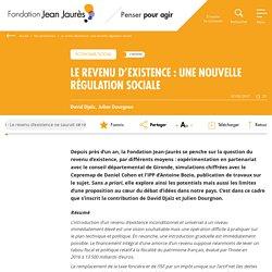 Le revenu d'existence : une nouvelle régulation sociale