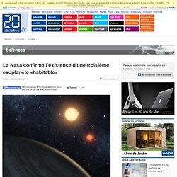 """La Nasa confirme l'existence d'une troisième exoplanète """"habitable"""""""