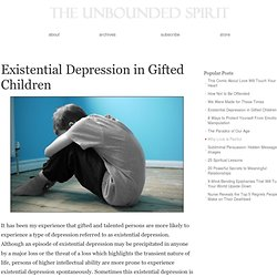 Existential Depression in Gifted Children