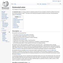 Existential crisis - Wikipedia
