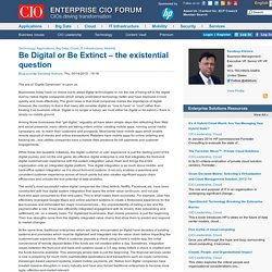 Be Digital or Be Extinct – the existential question