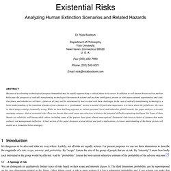 Existential Risks